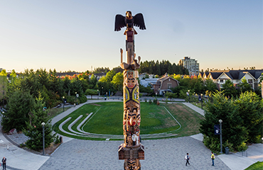 Reconciliation Pole at the Vancouver campus