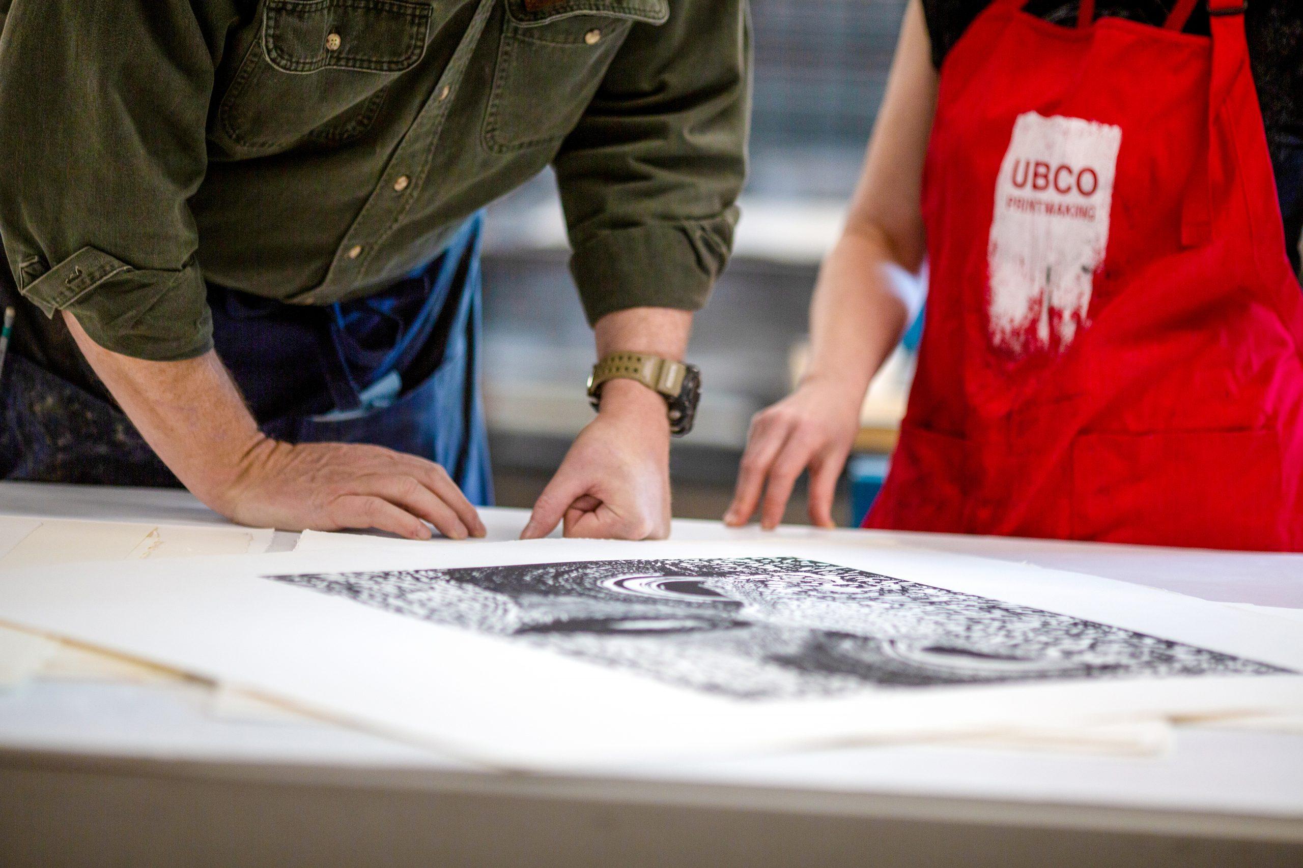 UBC printmaking studio